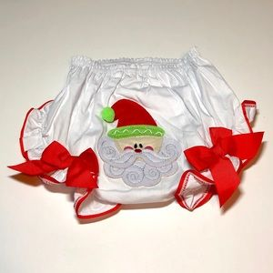 Mud Pie Christmas Diaper Cover Size 0-6 months